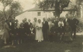 Hochzeit Walter Tobias und Selma Bähr, 1931