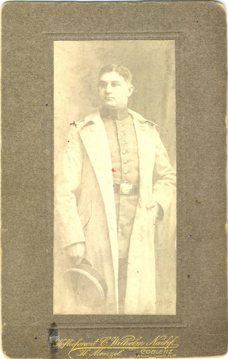 Vermutlich Max Tobias 1915 in Koblenz