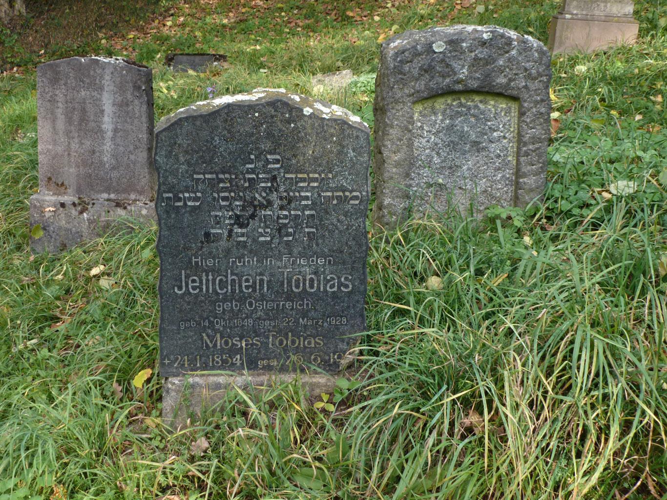Grabstein von Jettchen und Moses in Bendorf-Sayn