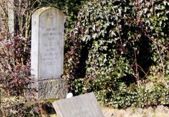Grabstein von Julie Cahn, geb. Tobias auf dem Neuen Jüdischen Friedhof von Lechenich. Ausschnitt aus einem Foto von Willy Horsch, http://commons.wikimedia.org