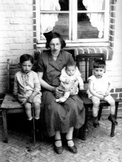 Selma and her youngest kids.