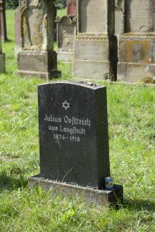 Grave of Julius Oestreich in Babenhausen