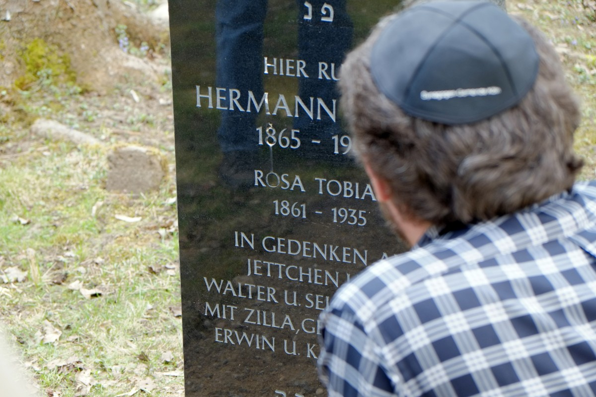 Headstone for Hermann Tobias