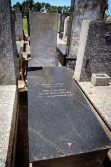"Elise ""Elly"" Levy néeTobias (1878-1947), cemetery La Tablada, Buenos Aires, December 2014. Photo: Carina Kraft"