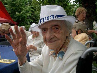 Toni Maas, geb. Hönigsberg im Sommer 2013 im jüdischen Seniorenheim Frankfurt. Foto: Eitel Markwirth