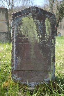 Grabstein von Rosina Gärtner, geb. Marx in Kobern-Gondorf.